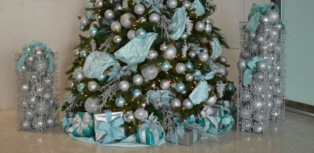 slide title - Tiffany Blue Christmas Decorations