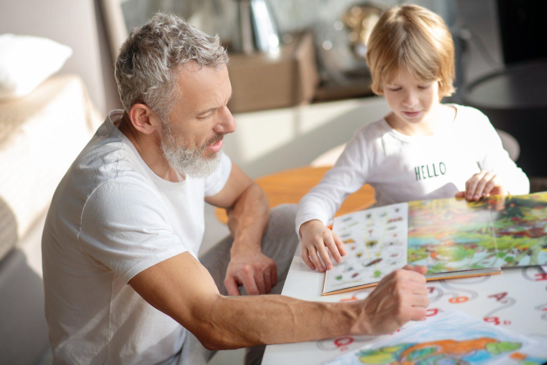 Famille en révision cahiers de vacances