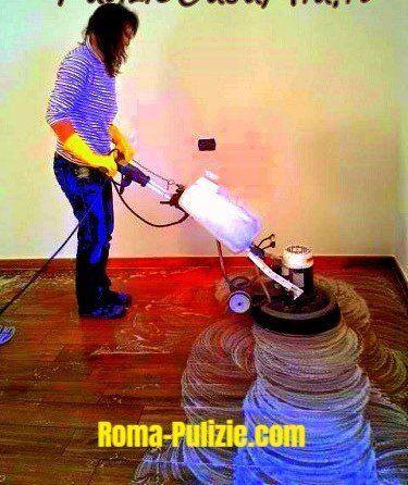 pulizie pavimenti con monospazzola