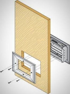 portes battantes en simple ou double vantaux multi usages. Black Bedroom Furniture Sets. Home Design Ideas