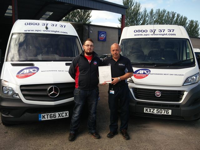 0d9cd754c6 Matthew Beattie   Mark Laughlin received the Freight Transport Association Van  Excellence accreditation.