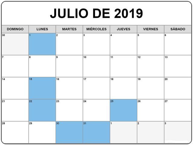 Calendario Fiscal 2019 Autonomos.Obligaciones Fiscales Para Empresas Y Autonomos Julio 2019