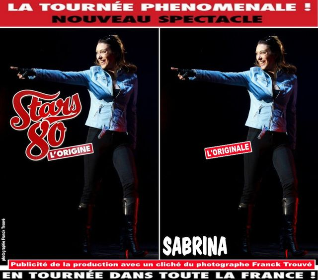 affiche stars 80 sabrina photo franck trouvé
