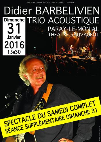 affiche concert didier barbelivien photo franck trouvé