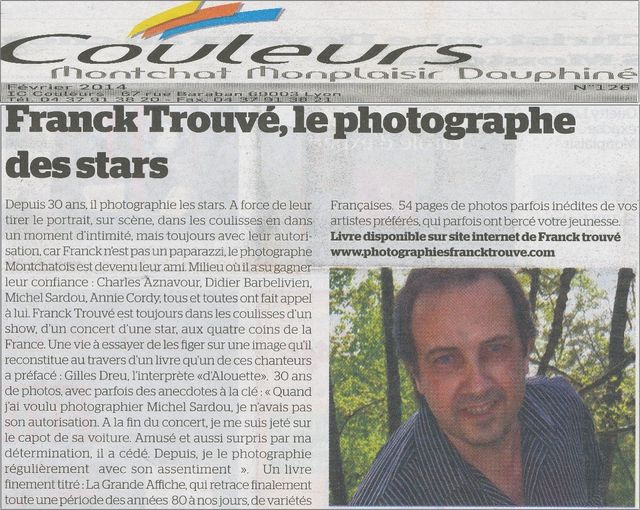 article presse couleurs photographe franck trouvé