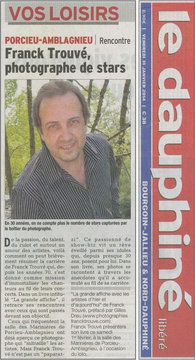article presse le dauphine photographe franck trouvé
