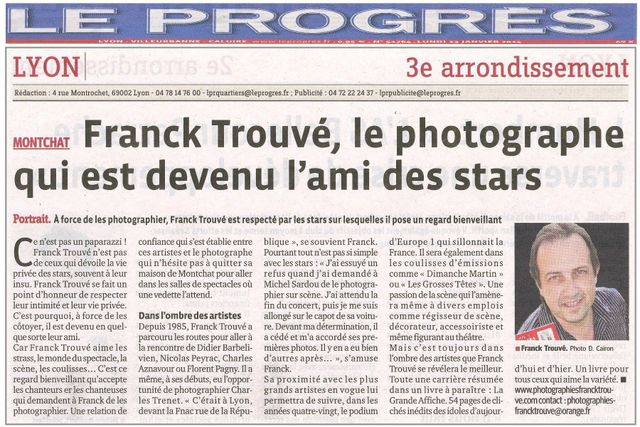 article presse le progres photographe franck trouvé