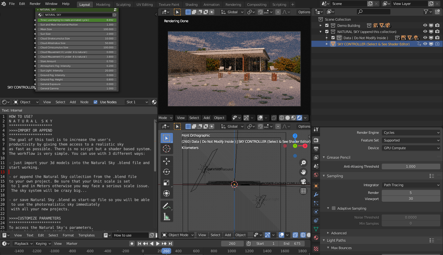 how to create realistic sky with blender 3d
