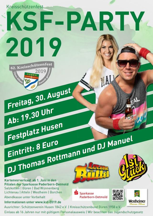 Plakat KSF19 Zeltparty