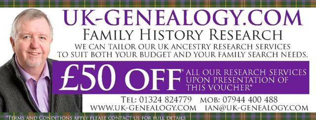 Free VOUCHER @UK GENEALOGY COM