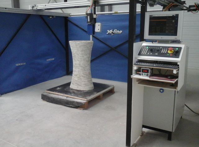 Leader en impression 3D béton pour mobilier de jardin