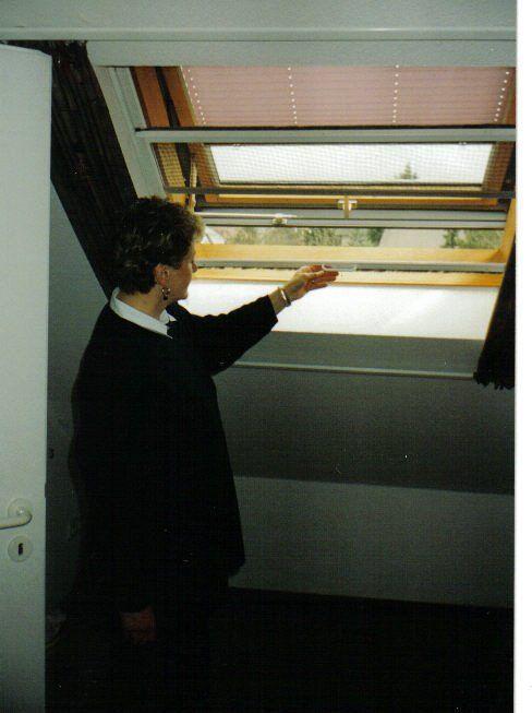 mit einem Handgriff können unsere Fenster geöffnet werden
