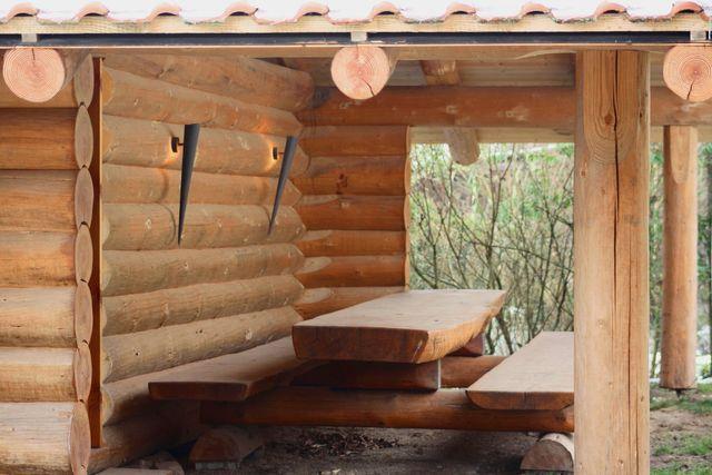 naturstamm blockhaus blockhausbau pfalz tiny house auf r dern. Black Bedroom Furniture Sets. Home Design Ideas