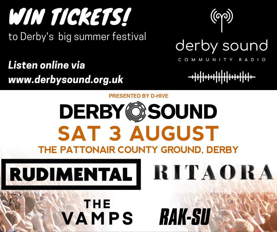 WIN tickets to #DerbySound festival this summer