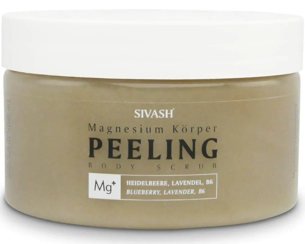Magnesium Körper Peeling (Body Scrub) Heidelbeere, Lavendel, Vitamin B6