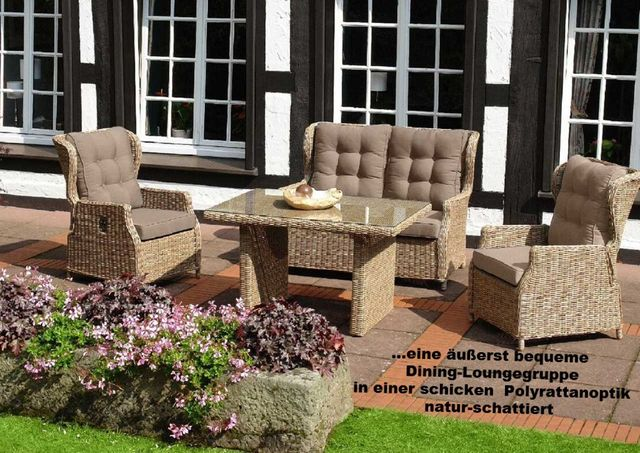 gartenm bel lounge sets aus polyrattan zu g nstigen setpreisen. Black Bedroom Furniture Sets. Home Design Ideas