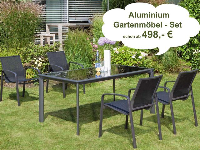gartenm bel set g nstig gut aus aluminium individuell selbst zusammenstellen. Black Bedroom Furniture Sets. Home Design Ideas