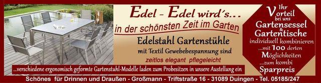 Edelstahl Gartenmobel In Bester Qualitat Schickes Dessin Zum
