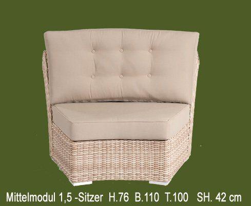 Gartenmöbel Lounge - mit der optimalen Sitzhöhe und Sitztiefe.