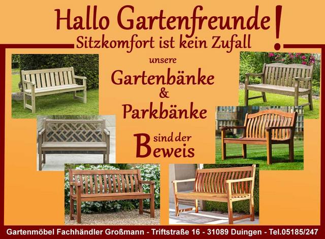 Gartenbanke Und Parkbanke Aus Holz Stabil Und Bequem