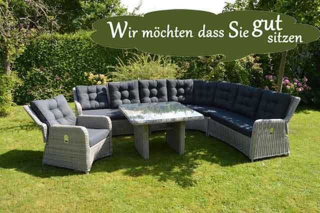 Schöne Gartenmöbel & Strandkörbe individuell selbst zusammenstellen