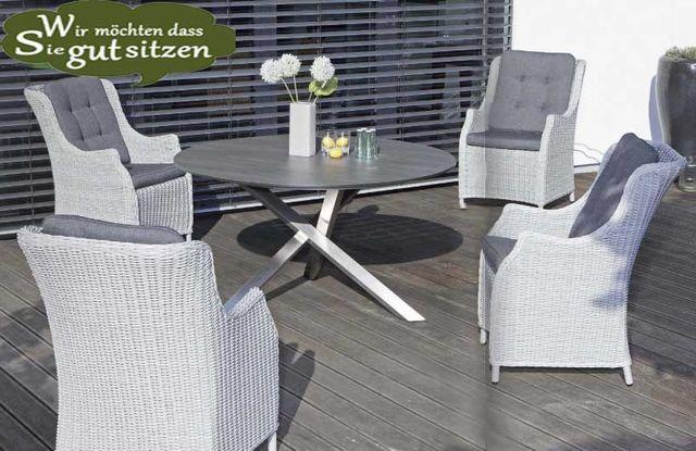 Gartentisch rund bis 150 cm ... garantiert standfest, wetterfest ...