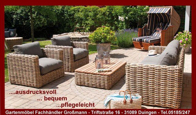 Gartenmöbel-Lounge Sands - ausdrucksvoll-bequem-pflegeleicht