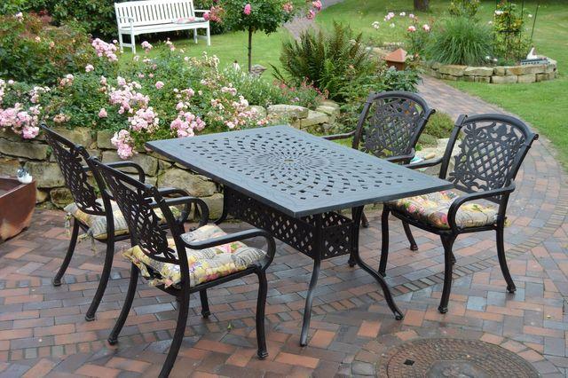Gartenmöbel set metall  Auf unseren stabilen Aluminiumguss Gartenmöbeln sitzen Sie wie ein ...