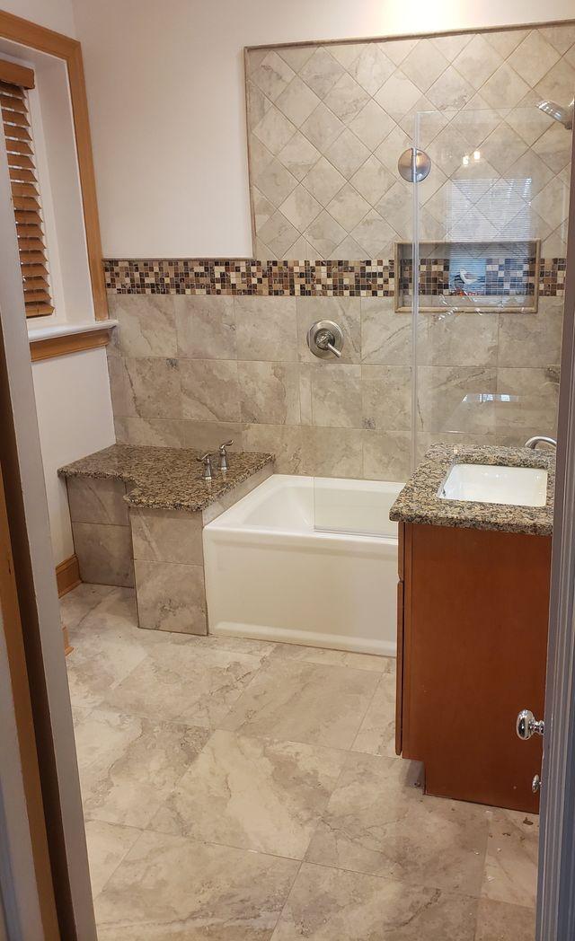 Unique Custom Tile Accents Add Character In Cheltenham Bathroom Remodel