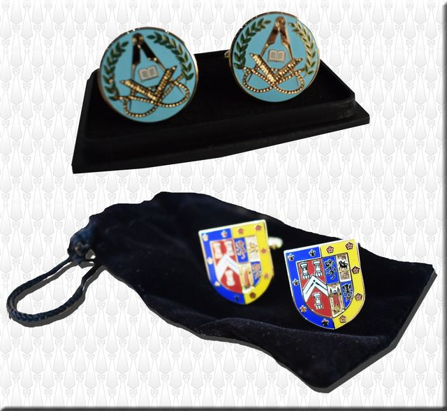 Personalised Cufflinks, Pin badges, Masonic jewels, made to order