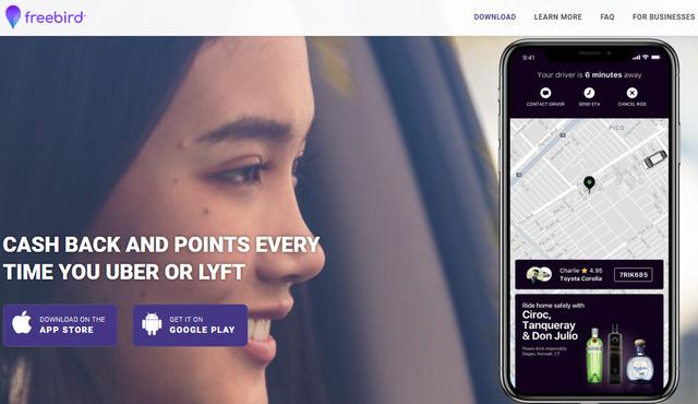 Ride Share Cash Back: Uber + Lyft + Freebird + Ibotta +