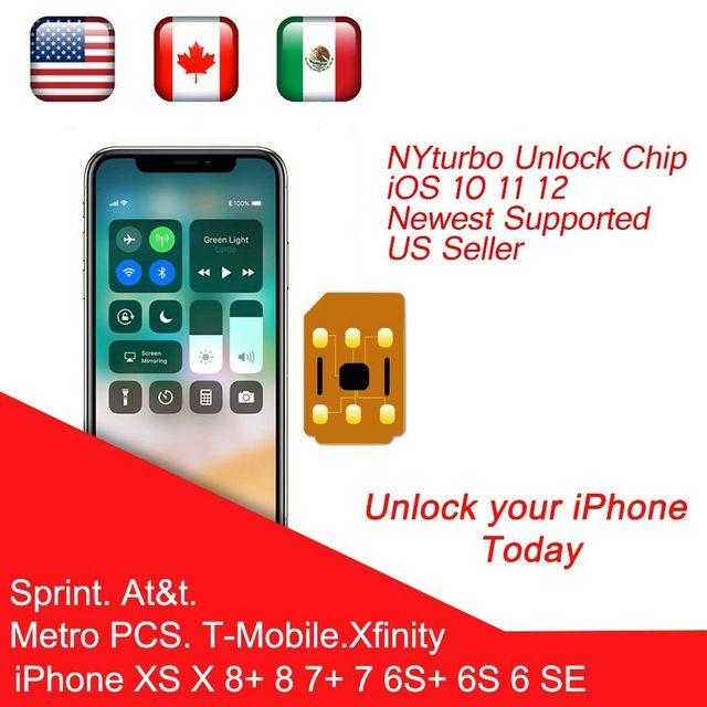 NYturbo Unlock Sim for iPhone XS Max XR X 8 7 6 PLUS 5 SE