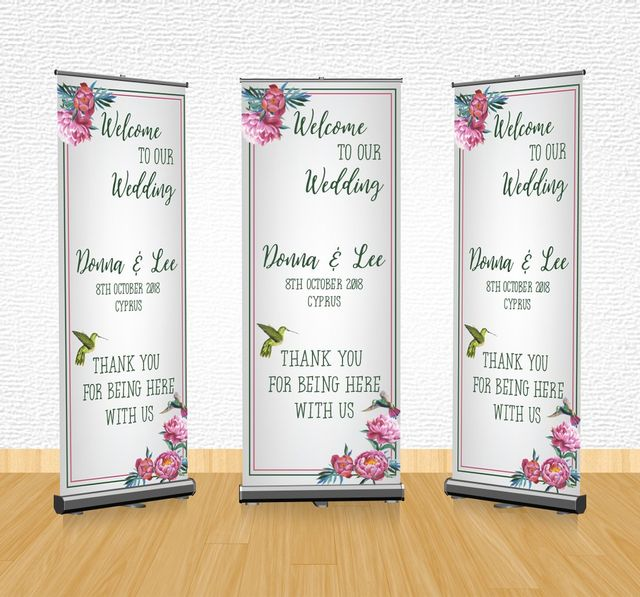 Hotel Welcome Banners Black Yellow Banners