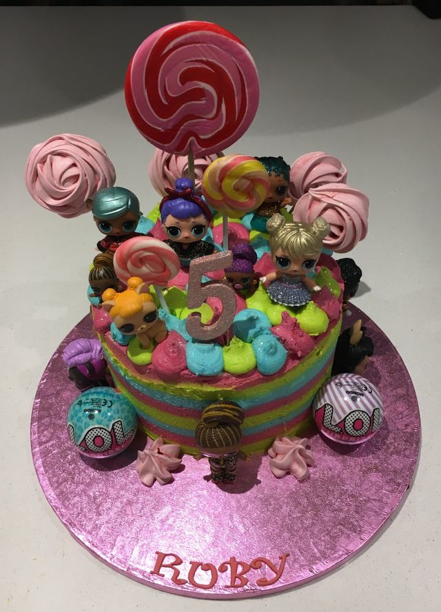 Surprising Lol Surprise Dolls Cake Funny Birthday Cards Online Aboleapandamsfinfo