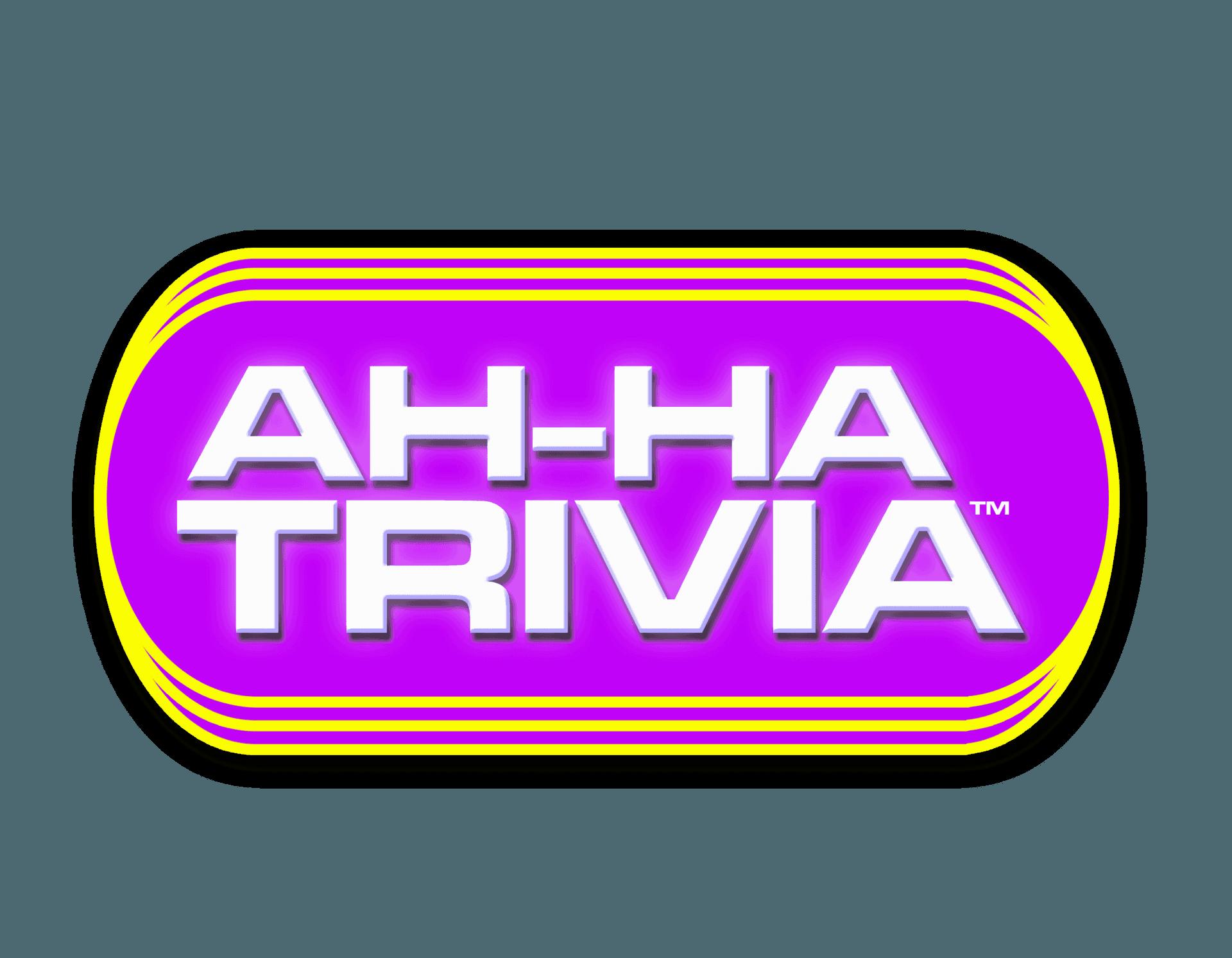 AH-HA TRIVIA - Animated Trivia LOGO World's First Animated Trivia Application