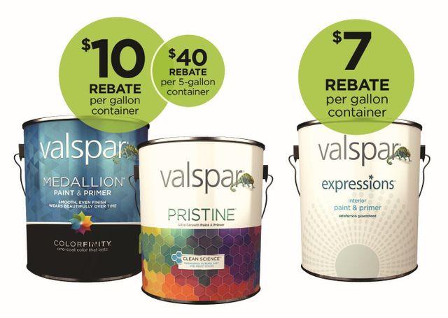 2019 Valspar Paint Rebates