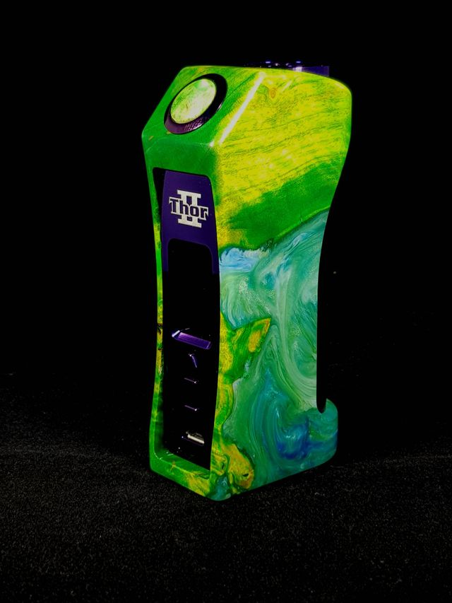 Asmodus UK high end stabilized wood box mod and squonkers