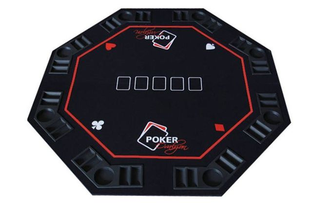 Octogonal Poker Table Top That Easily Fold In 4 And Slips Into Itu0027s  Carrying Case. Perfect To Install On A Round Dining Table. Unfolded  Dimensions : 48u0027u0027 X ...