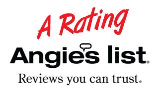 A + Rated by Angies List