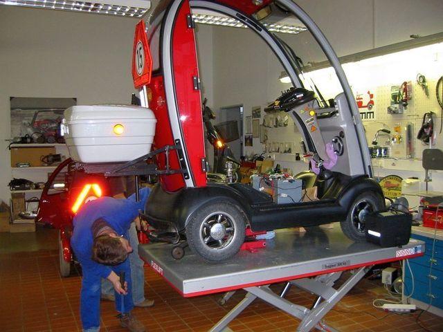 Werkstatt Elektromobil Scooter Kabinenfahrzeug
