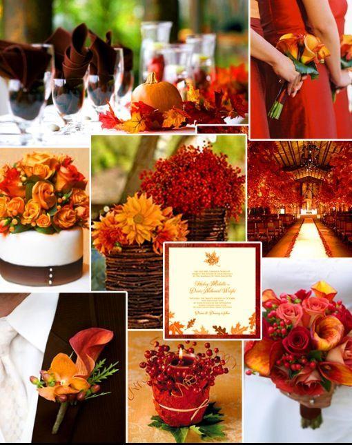 ideas para la decoración de boda en otoño