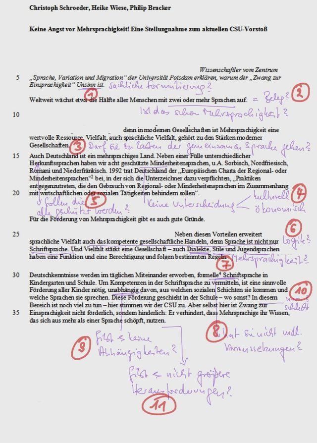 Klausur Argumentativer Sachtext Mit Kommentierungsnotwendigkeit