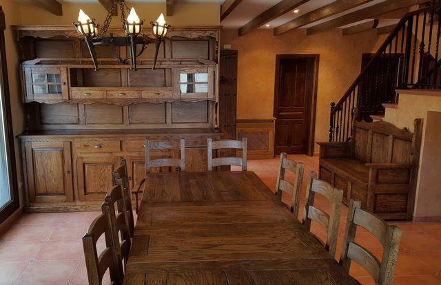 Muebles de roble macizo mesas de bodega de roble macizo - Muebles para bodega ...