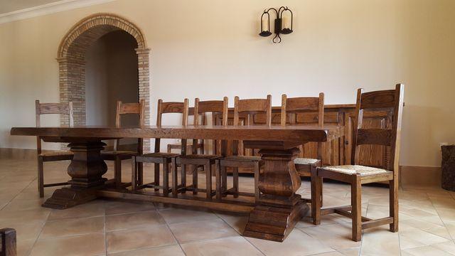 Muebles de Roble Macizo, Mesas de bodega de Roble Macizo