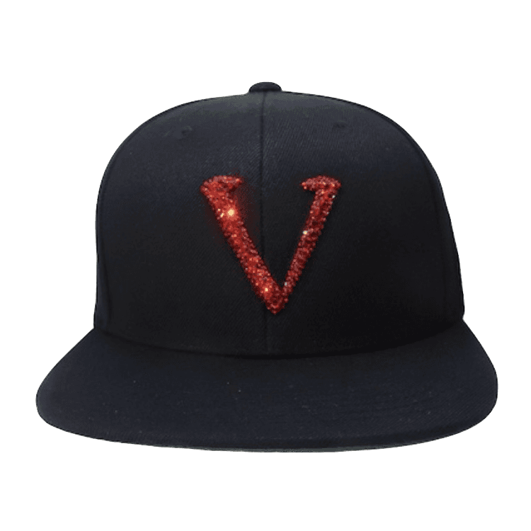 VS02 Vinceri UK Swarovski Crystal SnapBack with Red Crystals 22a6e85aed63
