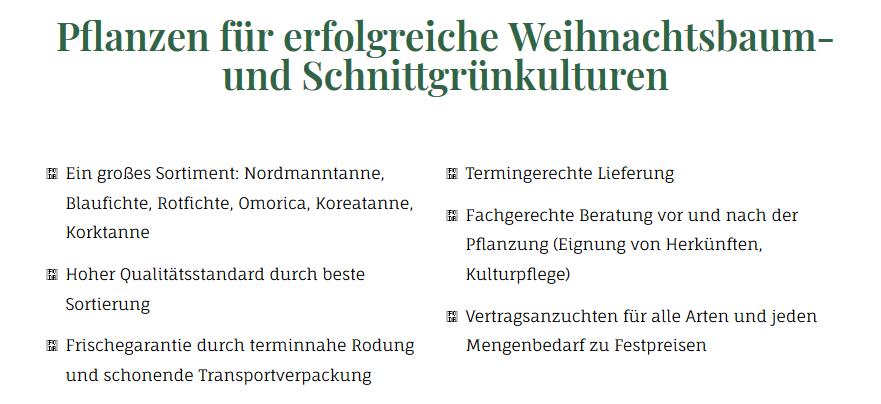 Weihnachtsbaum Jungpflanzen kaufen: Nordmanntanne, Frischegarantie