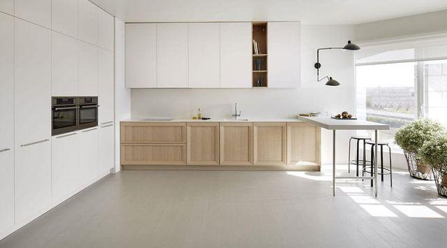 Cocina Blanca Y Madera Moderna Madrid Cocieco