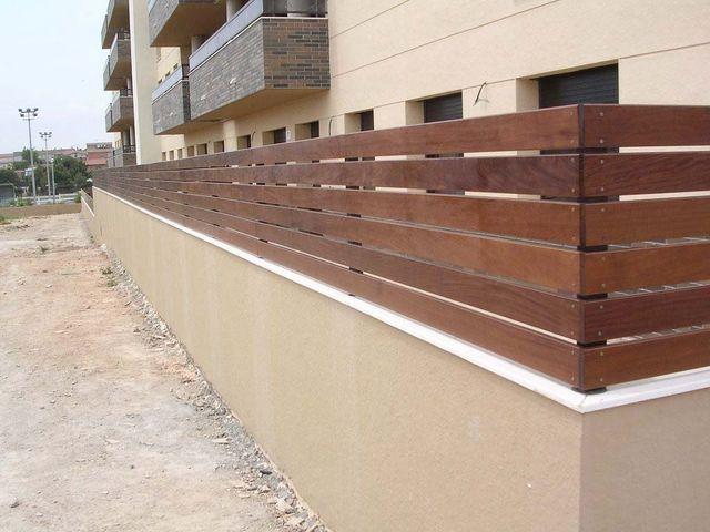 Venta e instalaci n de vallas y verjas decorativas - Verjas de madera ...