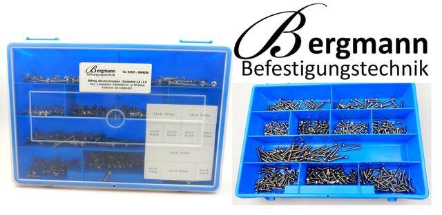 3,5//3,9 Linsen Blechschr.TORX Set DIN 7981 500tlg Edelstahl A2