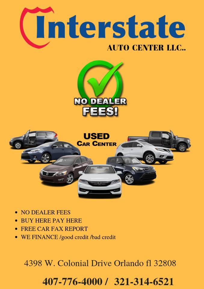Used Car Dealer Fees >> Interstate Auto Center Llc Affordable Used Cars